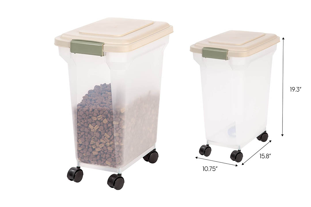 Iris Almond Pet Food Storage Container