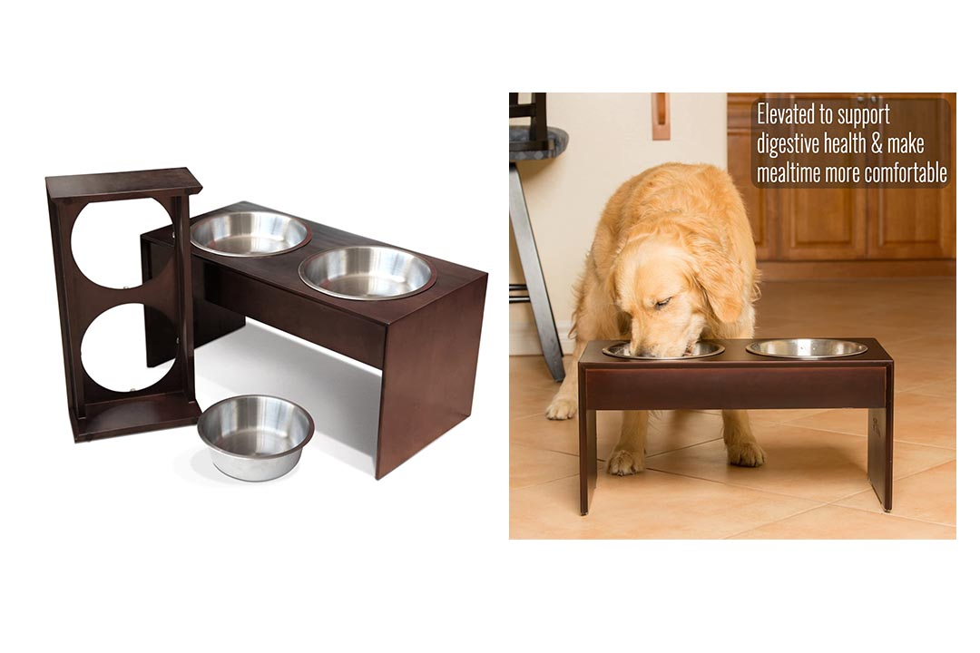 PetFusion Elevated Pet Feeder in Premium Solid Wood