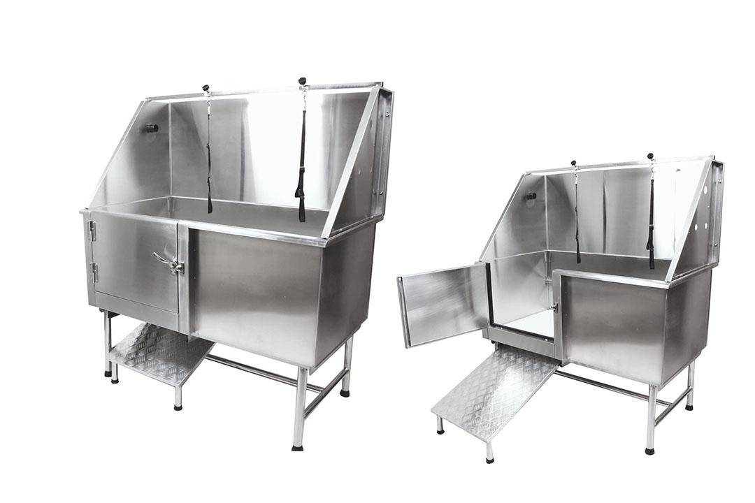 "50"" Flying Pig Grooming Professional Stainless Steel Pet Dog Grooming Bath Tub"