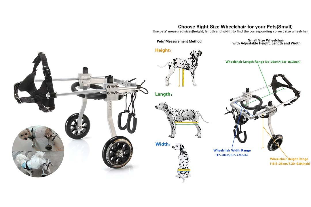 Anmas Home Adjustable Pet Dog Wheelchair