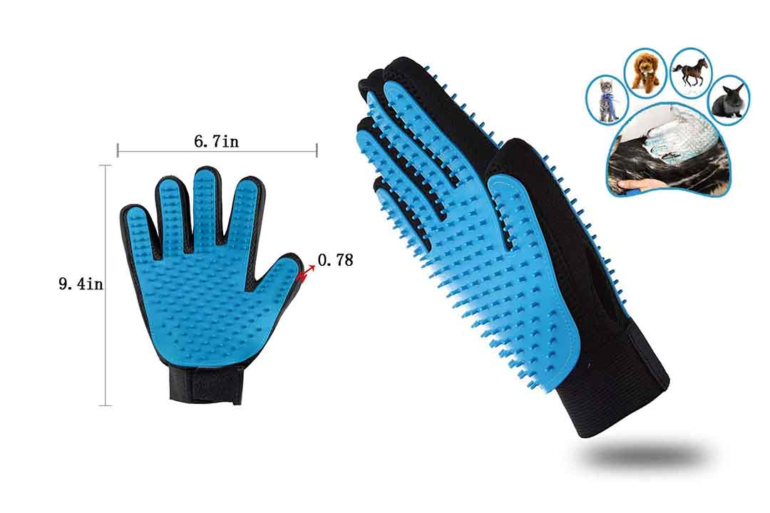 Meng Pet Two-Sided Pet Grooming Gloves