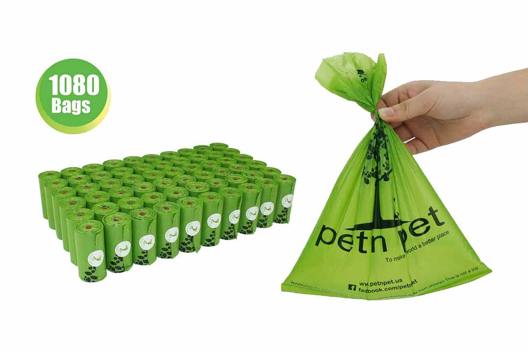 PET N PET Earth-Friendly 1080 Counts 60 Rolls Large Unscented Dog Waste Bags