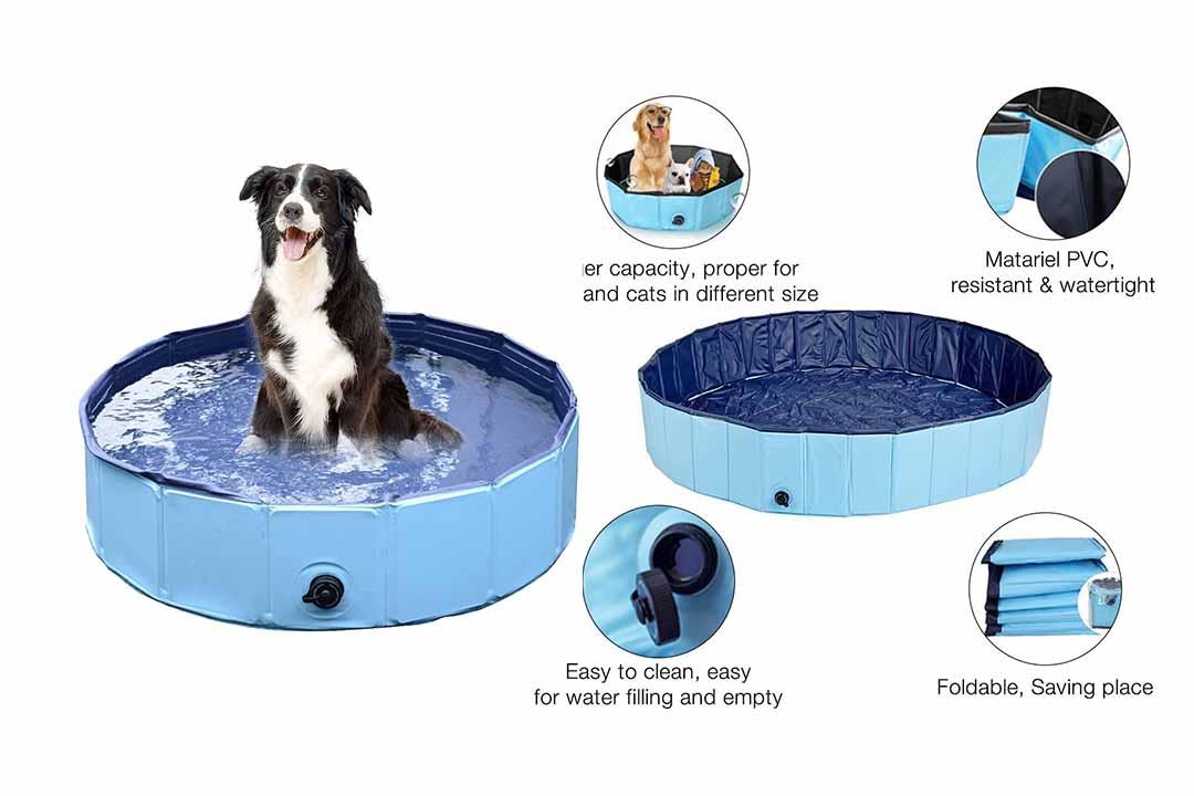 Pettom Pet Swimming Pool Foldable PVC Dog Cat Paddling Bathing Tub