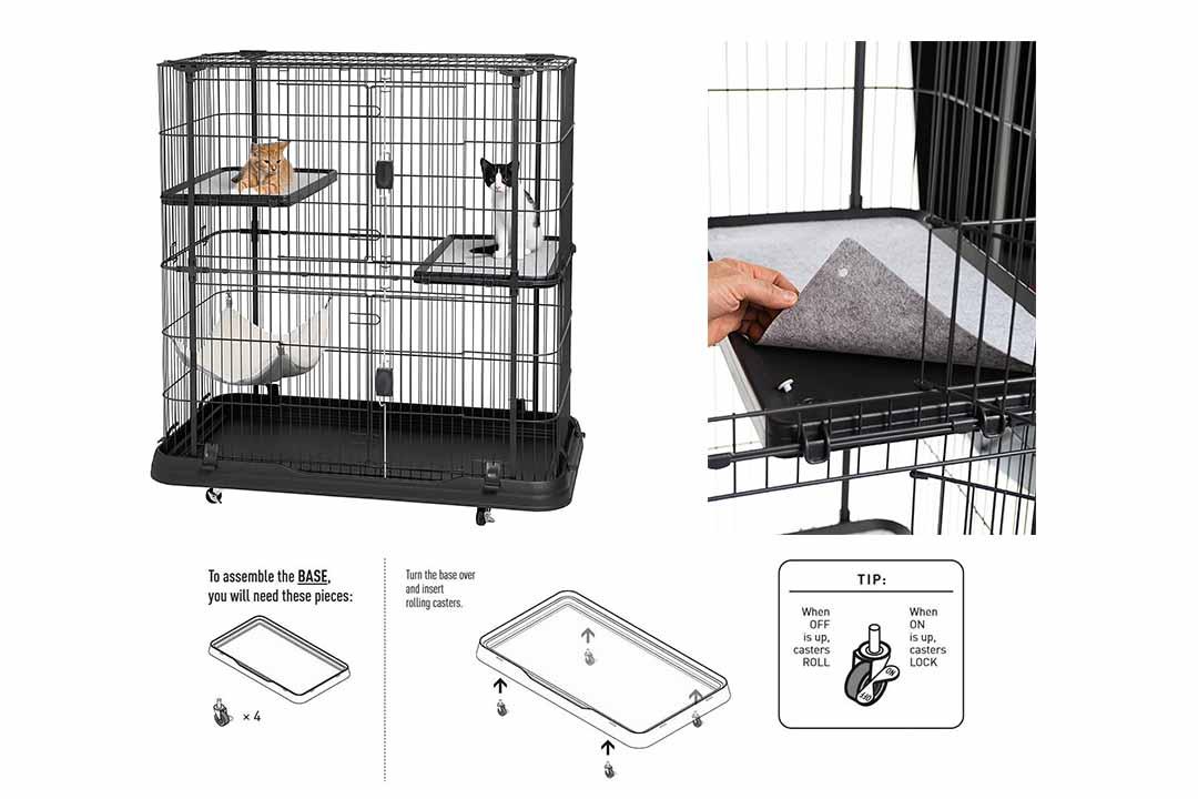 Prevue Pet Products Premium 3 Level Cat Home