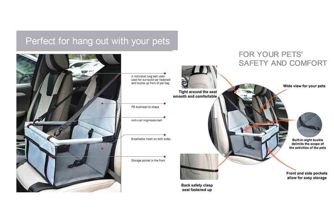 WOPET Durable Pet Booster Seat