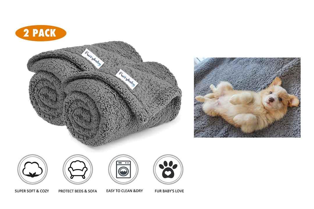 Furrybaby Premium Fluffy Fleece Dog Blanket