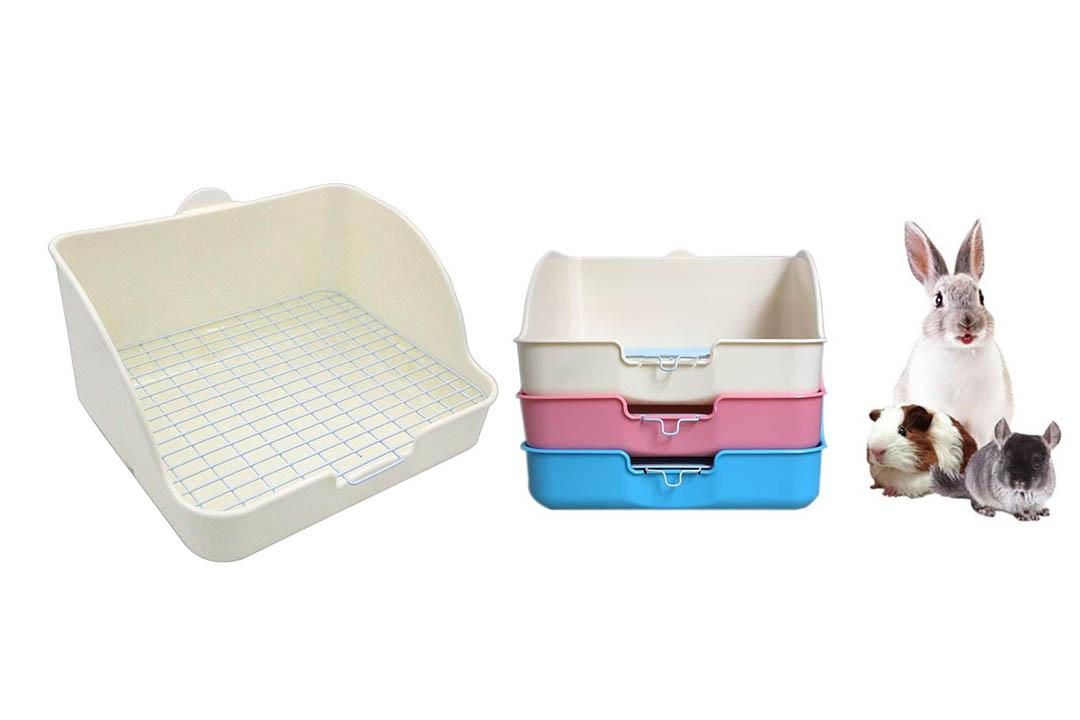 Pet Small Rat Toilet, Squared-Potty Trainer Pet Pan