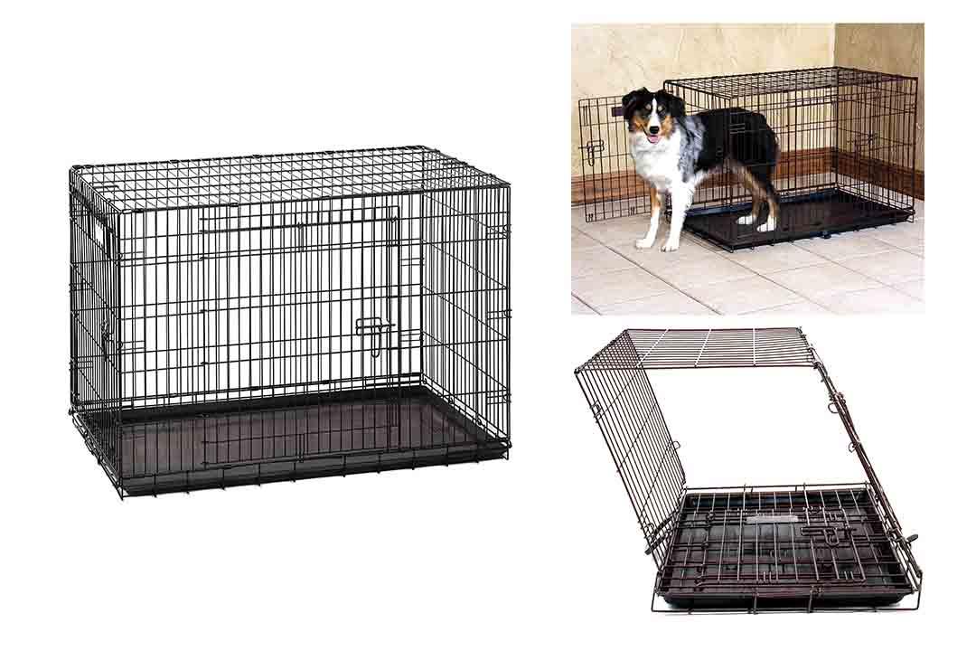 Precision Pet Two-Door Great Crate, Black