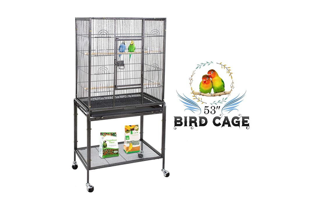 ZENY Birdcage with Stand Wrought Construction