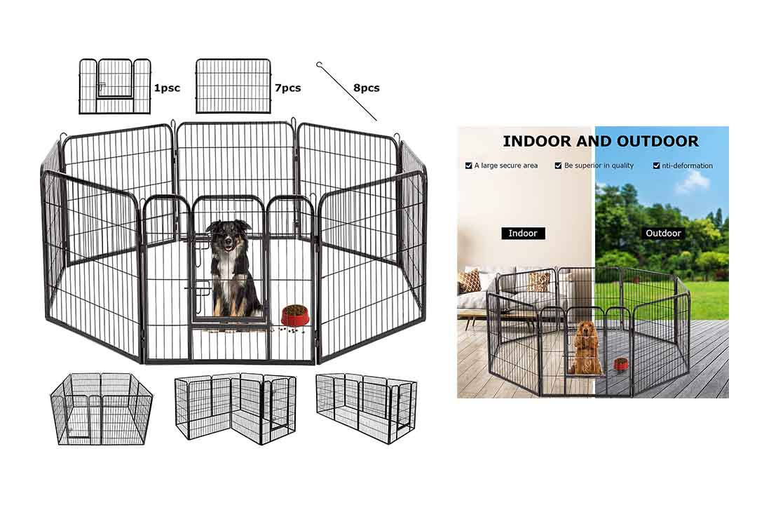 BestPet Hammertone Finish Heavy Duty Pet Playpen