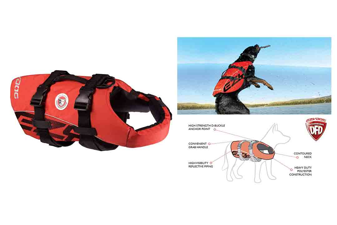 EzyDog Doggy Flotation Dog Life Vest