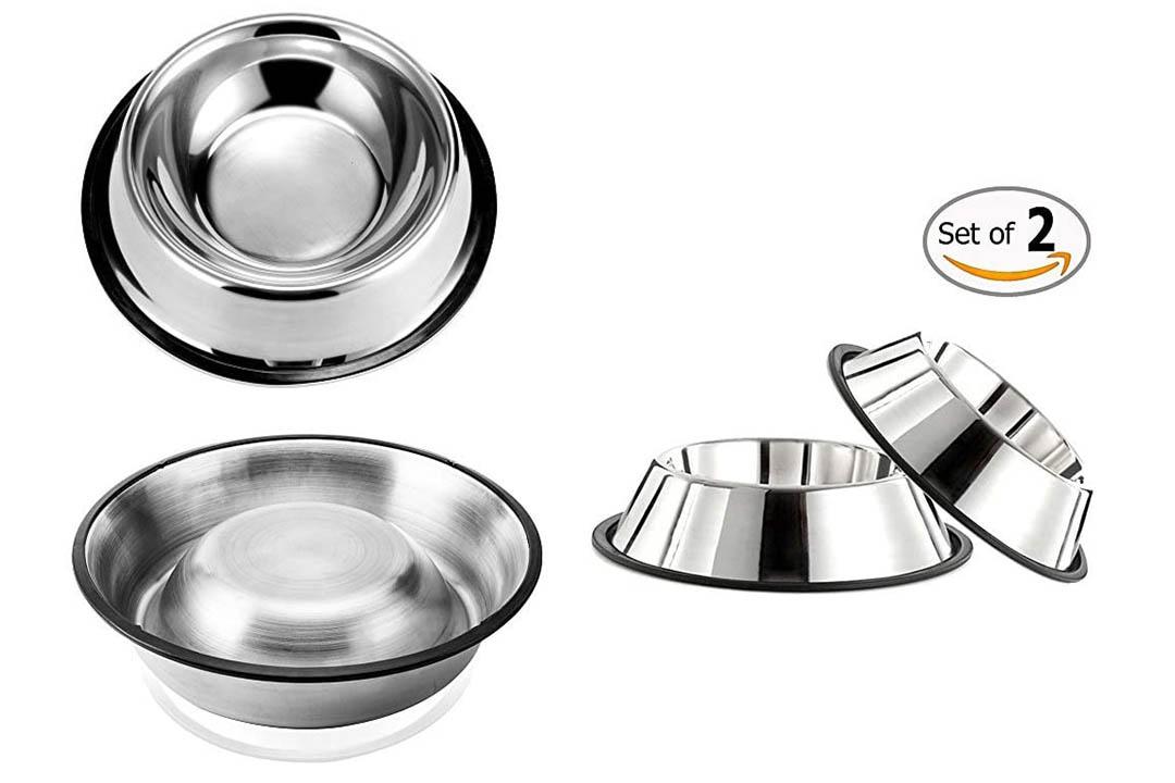 GOGOKING Pet utensils Dog Bowl Non-Slip Double Dog Bowl