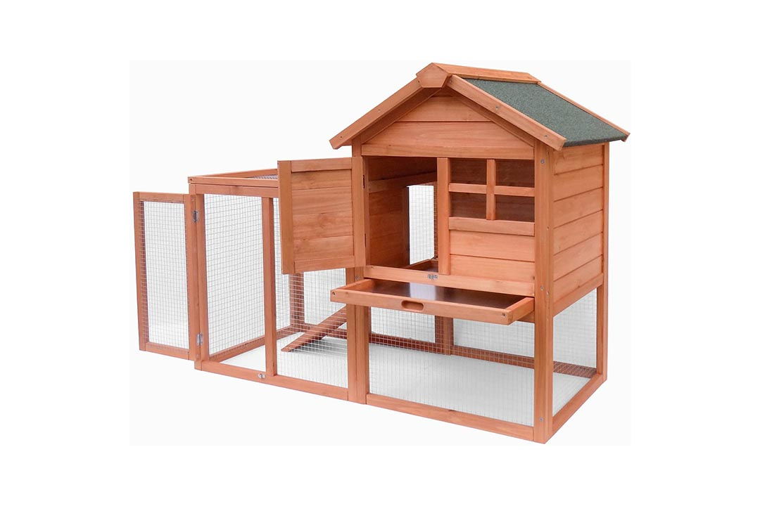 Merax Wooden Pet House Rabbit Bunny Wood Hutch