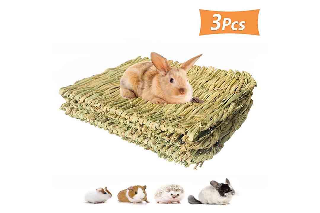 PIVBY Woven Pet Bed Rabbit Grass Mat