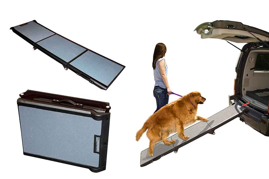 Pet Gear Tri-Fold Ramp 71 inch Extra Wide Pet Ramp