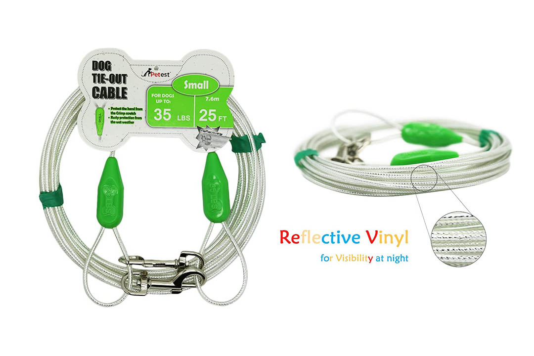 Petest Reflective Tie-Out Cable for Dogs