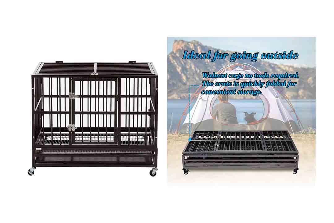 Sliverylake Dog Cage Crate Kennel