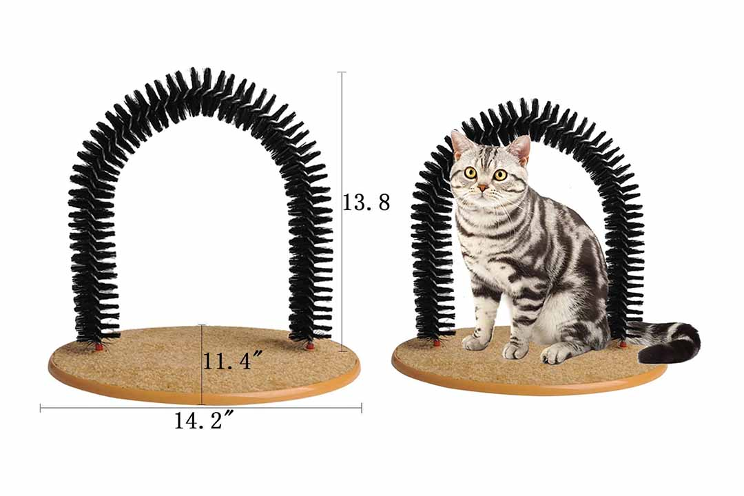 Soft Pet Cat Self Grooming Comb Brush Kitties Cat Arch