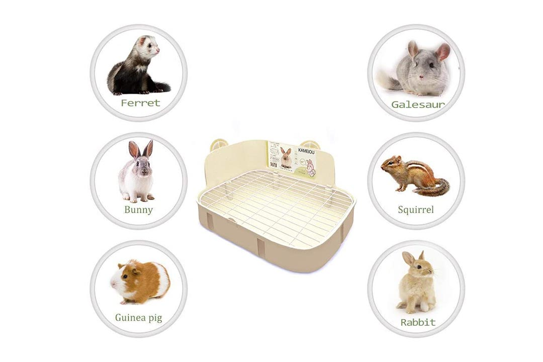 KAMEIOU White Rabbit Litter Box