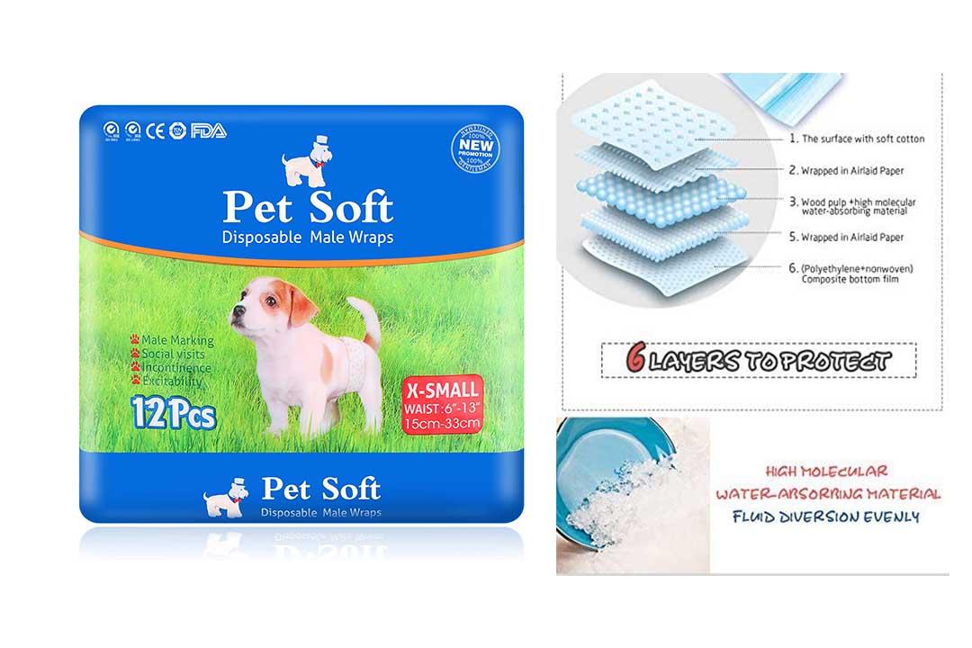 Pet Disposable Male Wrap Dog Diaper