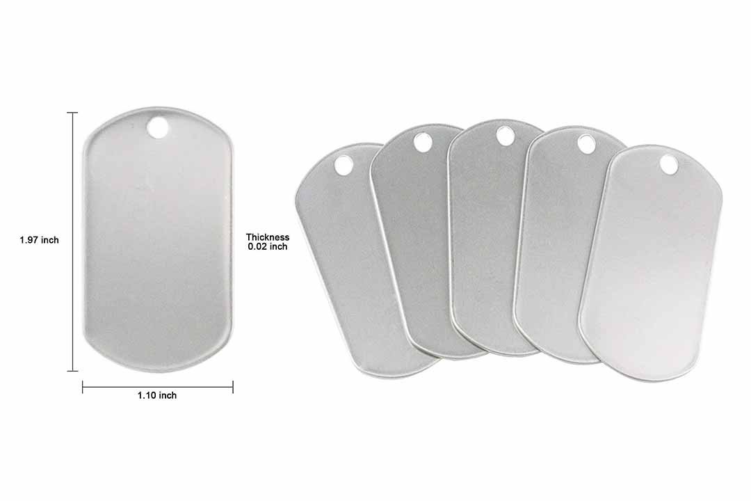 TinaWood 100PCS Blank Bulk Dog Tags