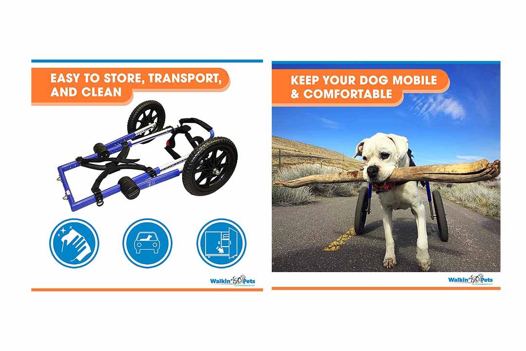 Walkin' Wheels Dog Wheelchair - for Med/Lg Dogs