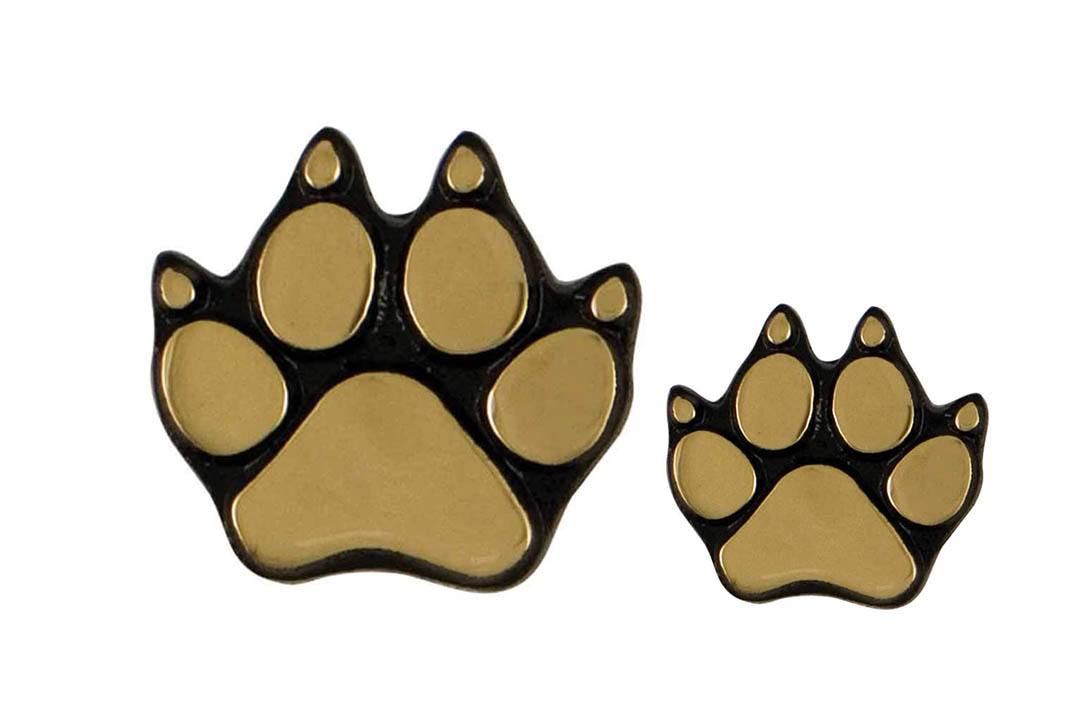 Dog Paw Doorbell Ringer - Brass