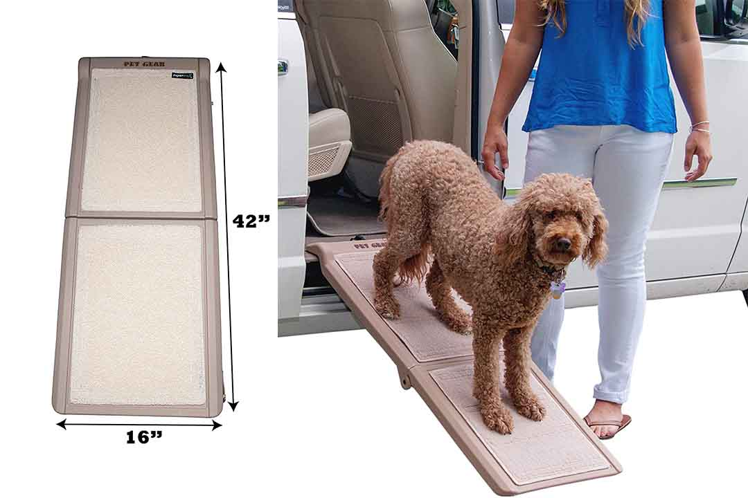 Pet Gear Travel Lite Bi-Fold Half Ramp with SupertraX