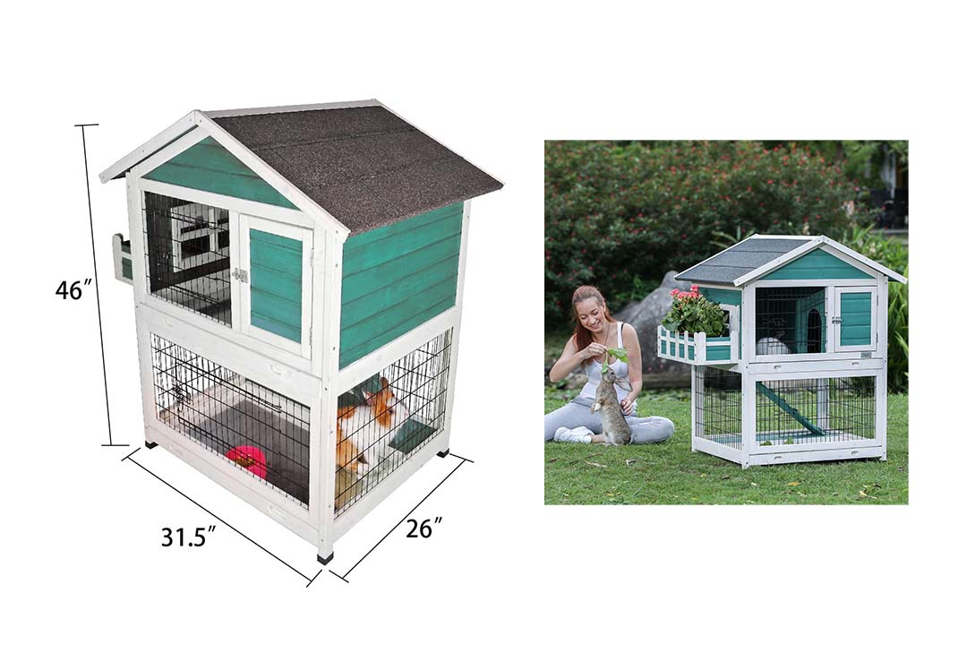Petsfit 42.5 x 30 x 46 inches Bunny Cages
