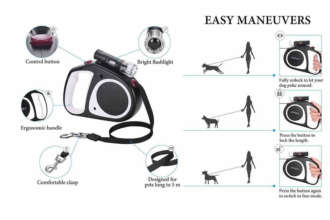UPSKY Retractable Dog Leash
