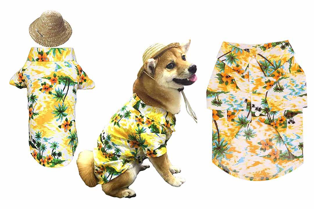 Hawaiian Pet Dog T-Shirt Summer Cam Clothes Apparel