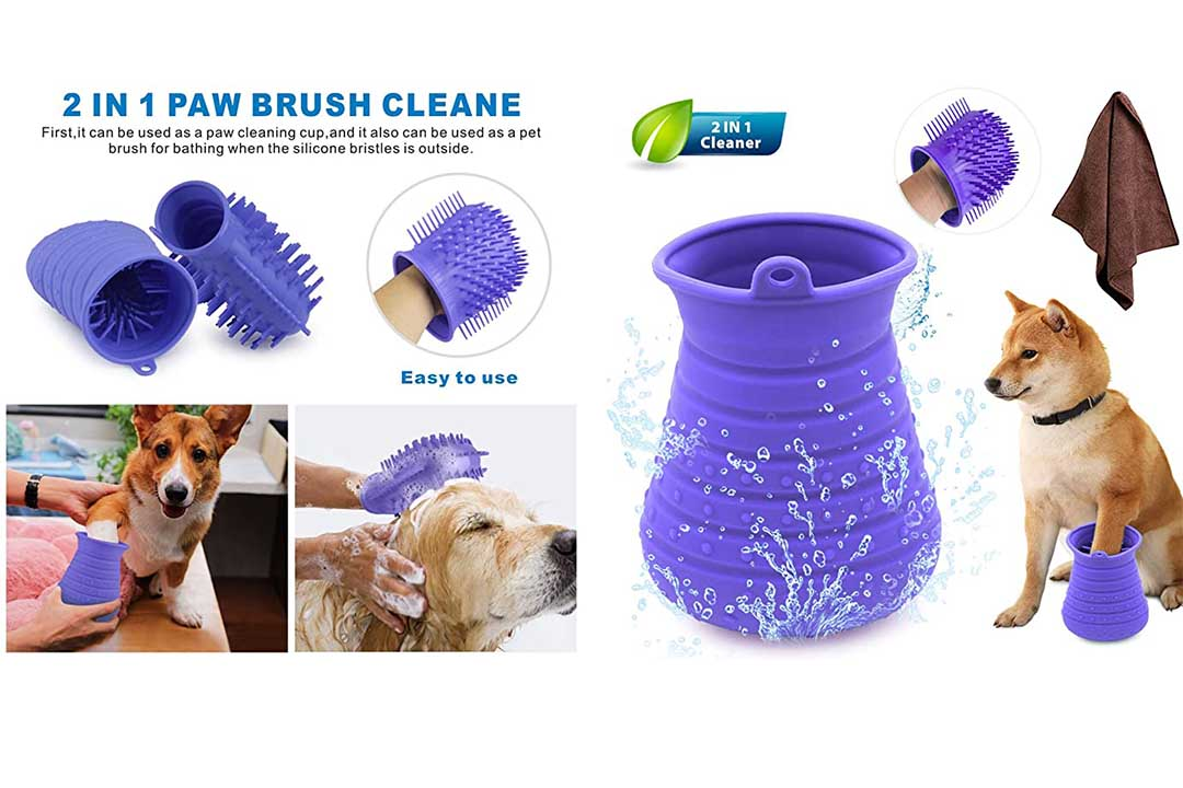 Idepet Dog Paw Cleaner Cup with Towel Pet Foot Washer