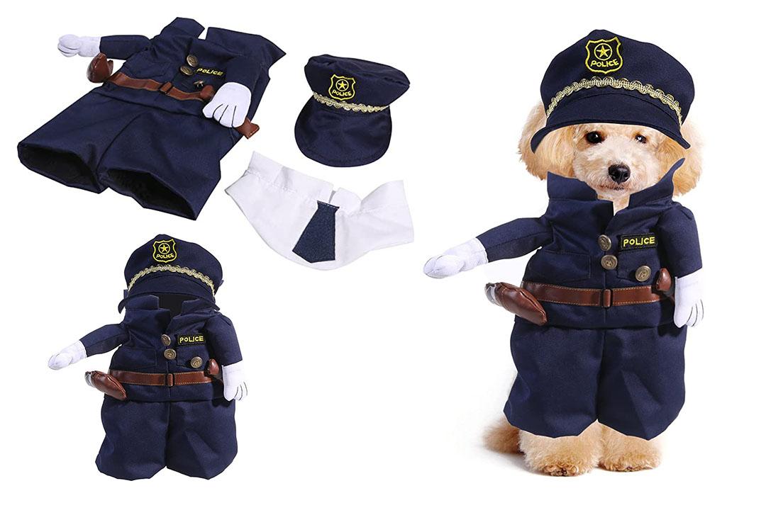 UEEKEK Funny Dog Cat Jeans Uniform Pet Clothes Costume Dress