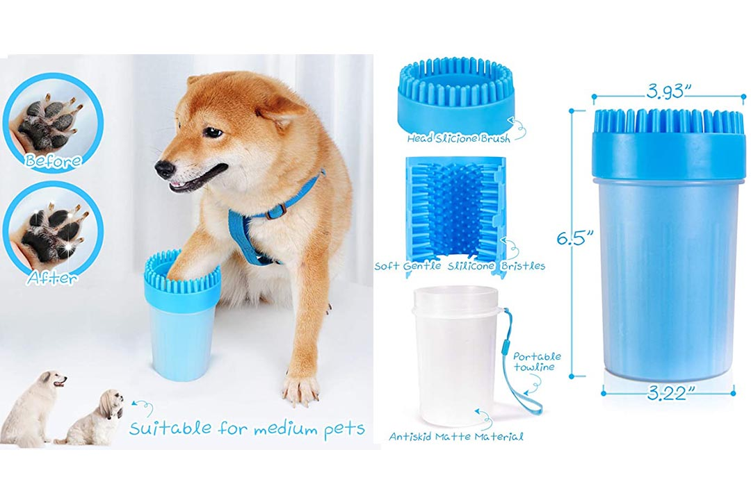 FULNEW Portable Dog Paw Cleaner Upgrade Dog Paw Washer Cup