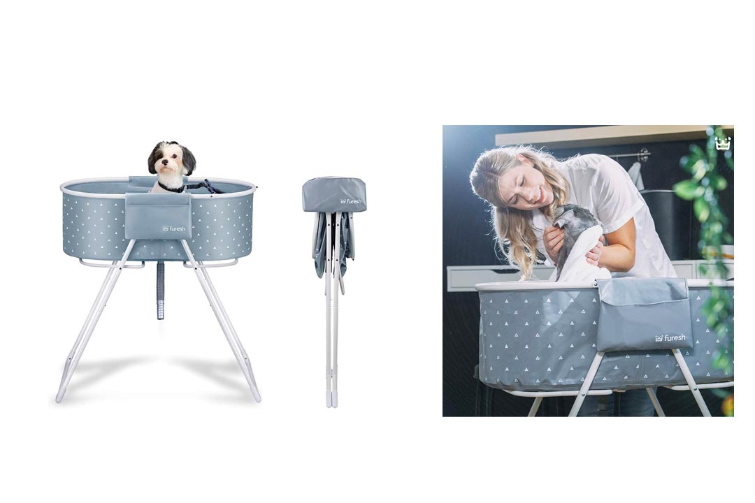 Furesh Elevated Folding Dog Bath Tub
