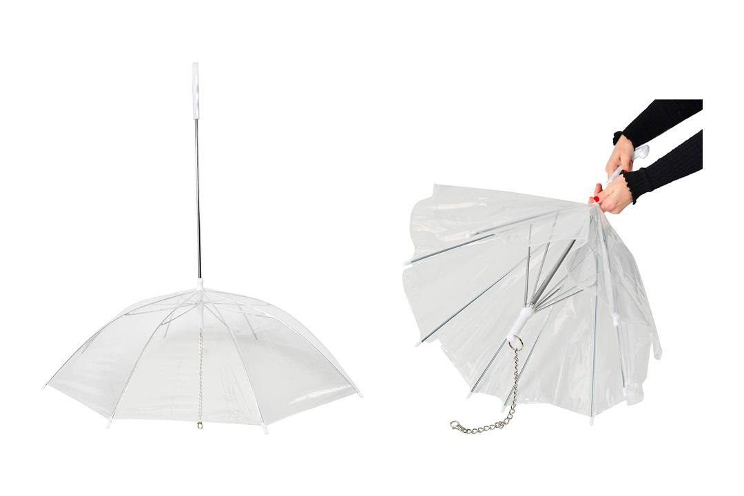 ARAD Dog Leash with Reverse Rain Umbrella