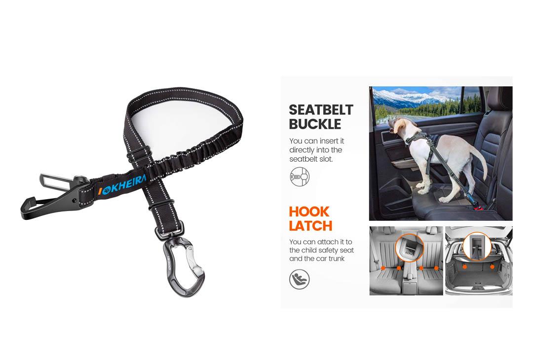 IOKHEIRA Dog Seat Belt