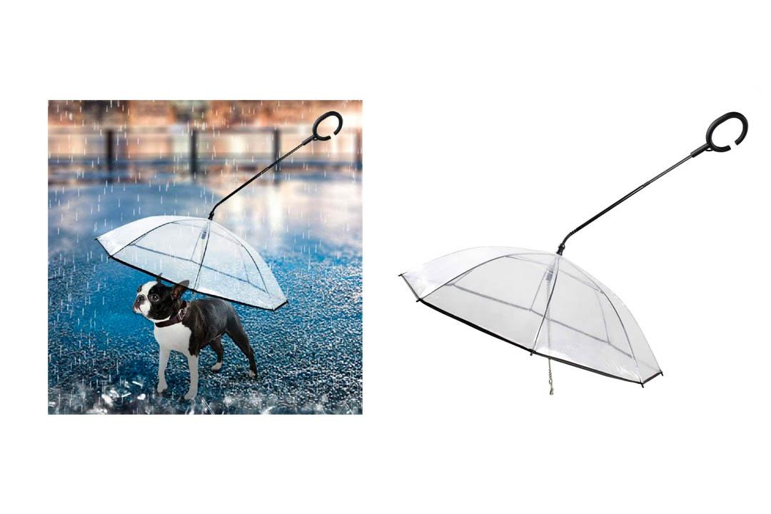 MWD C-Shaped Handle Transparent Pet Umbrella