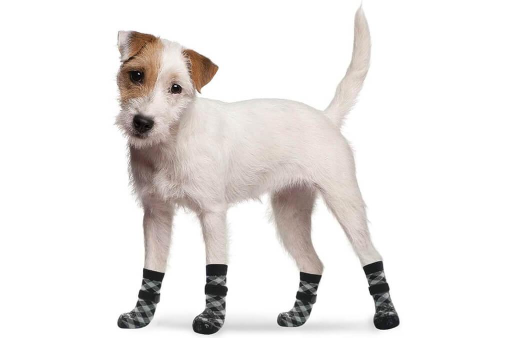 1. EXPAWLORER Double Side Anti-Slip Dog Socks
