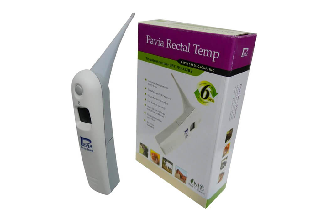 10. Genuine Pavia Rectal Temp Veterinary Thermometer