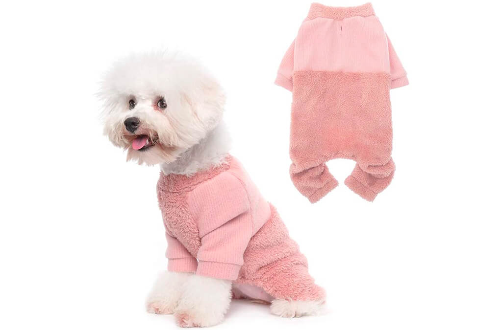 4. Knitted Pet Clothes Dog Pajamas
