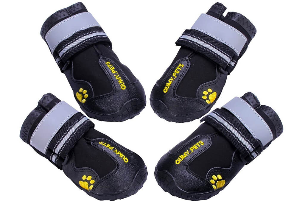 6. QUMY Dog Boots Waterproof Shoes for Dogs
