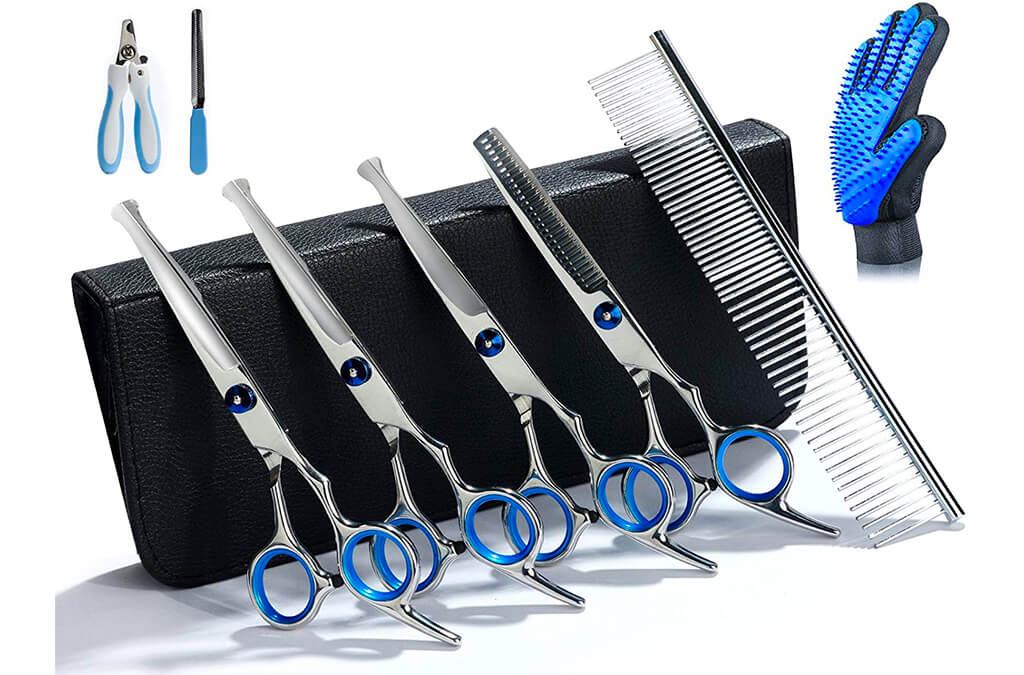 7. Breeze Touch Dog Grooming Scissors